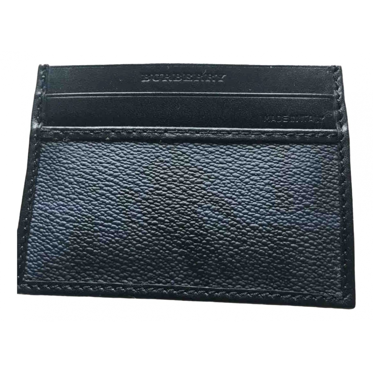 Burberry \N Black Leather Small bag, wallet & cases for Men \N