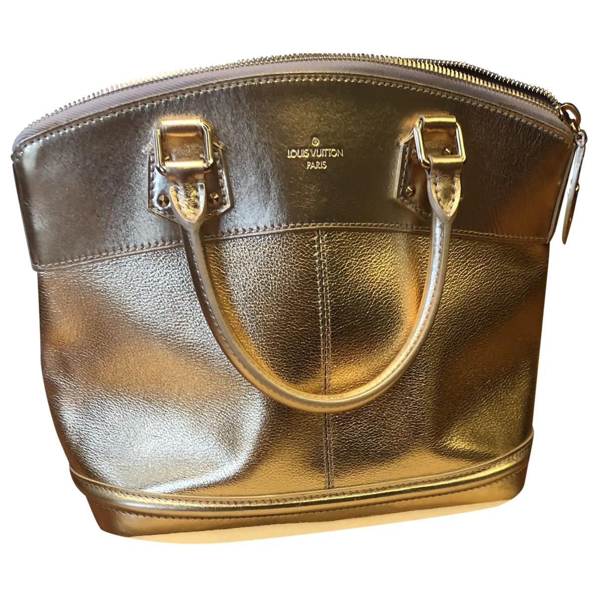 Louis Vuitton Lockit Handtasche in  Gold Leder