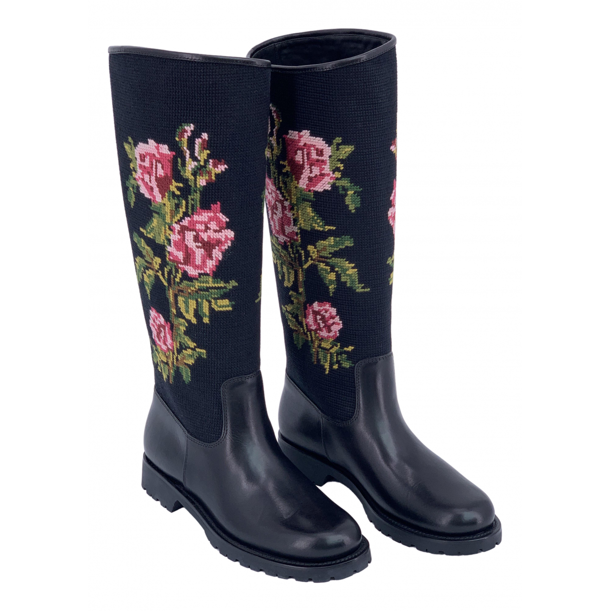 Yves Saint Laurent \N Multicolour Leather Boots for Women 39 EU