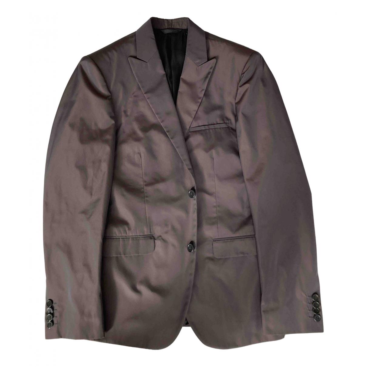 Calvin Klein Collection - Vestes.Blousons   pour homme en coton - anthracite