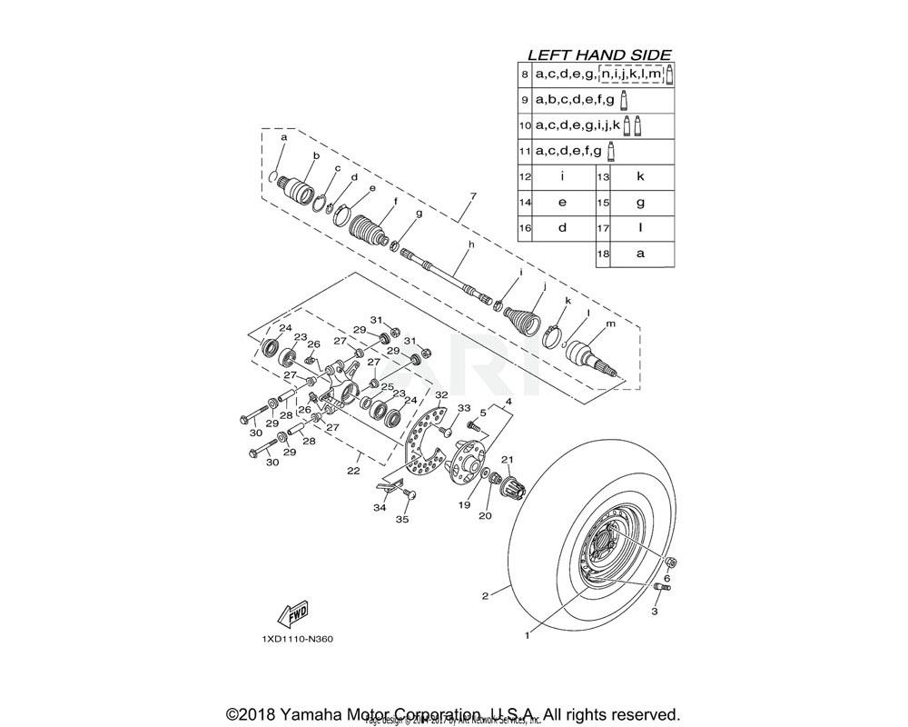 Yamaha OEM 1XD-F514A-01-00 RING, WHEEL 1