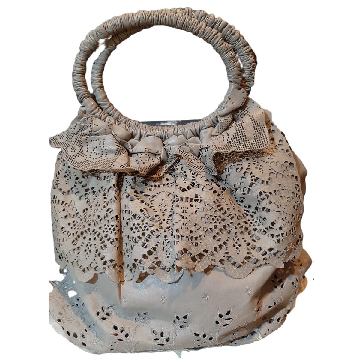 Valentino Garavani \N Grey Leather handbag for Women \N