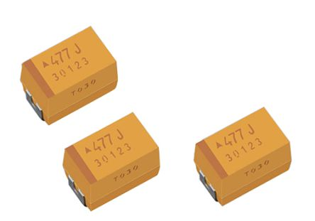 AVX Tantalum Capacitor 68μF 25V dc Electrolytic Solid ±10% Tolerance , TPM (400)