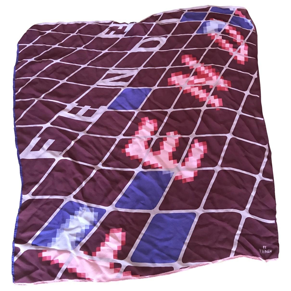Fendi - Carre   pour femme en soie - multicolore