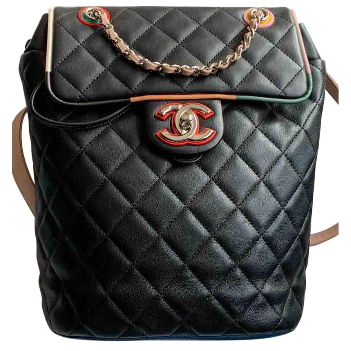 Chanel - Sac a dos Timeless/Classique pour femme en cuir - noir