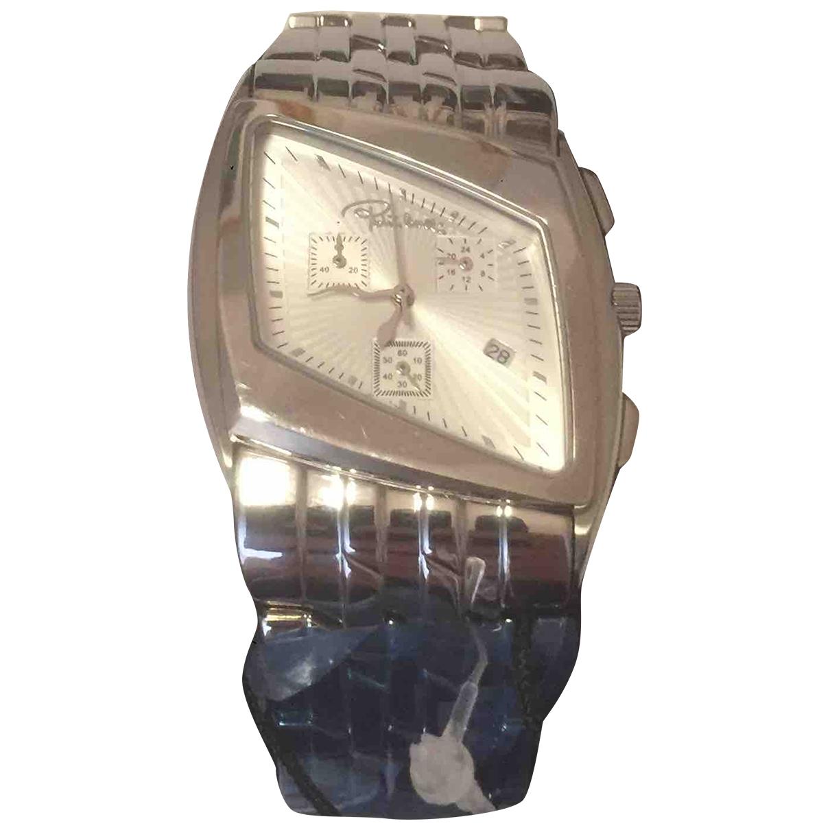 Roberto Cavalli \N Silver Steel watch for Men \N