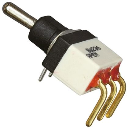 APEM SPST Toggle Switch, On-Off-On, PCB
