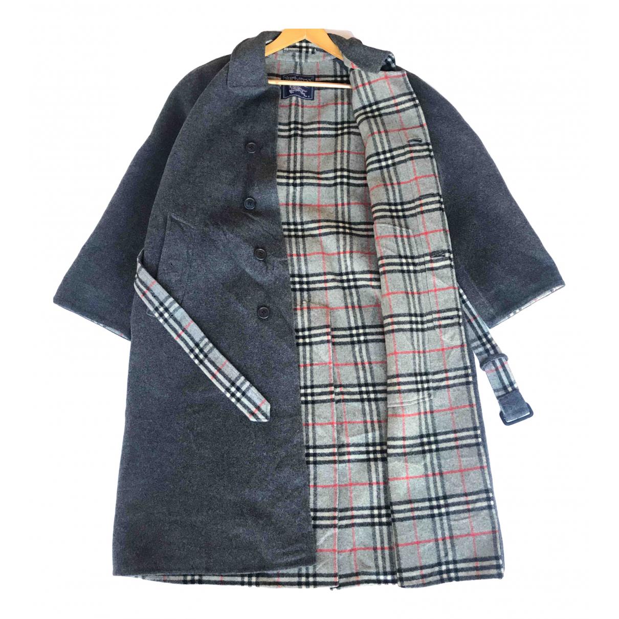 Burberry - Manteau   pour homme en laine - gris