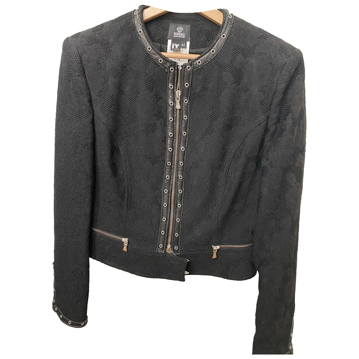 Versace Jeans \N Black Wool jacket for Women 38 FR