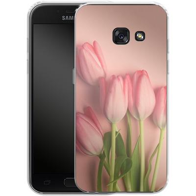 Samsung Galaxy A3 (2017) Silikon Handyhuelle - Pink Tulips von Joy StClaire