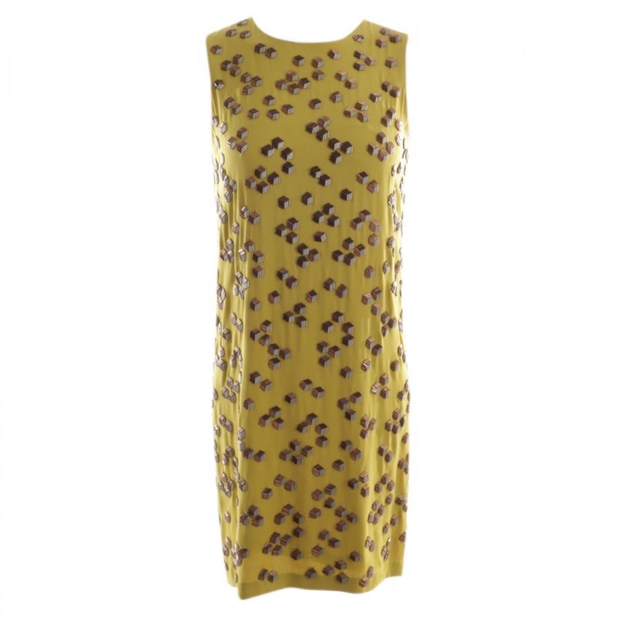 Diane Von Furstenberg - Robe   pour femme en soie - jaune