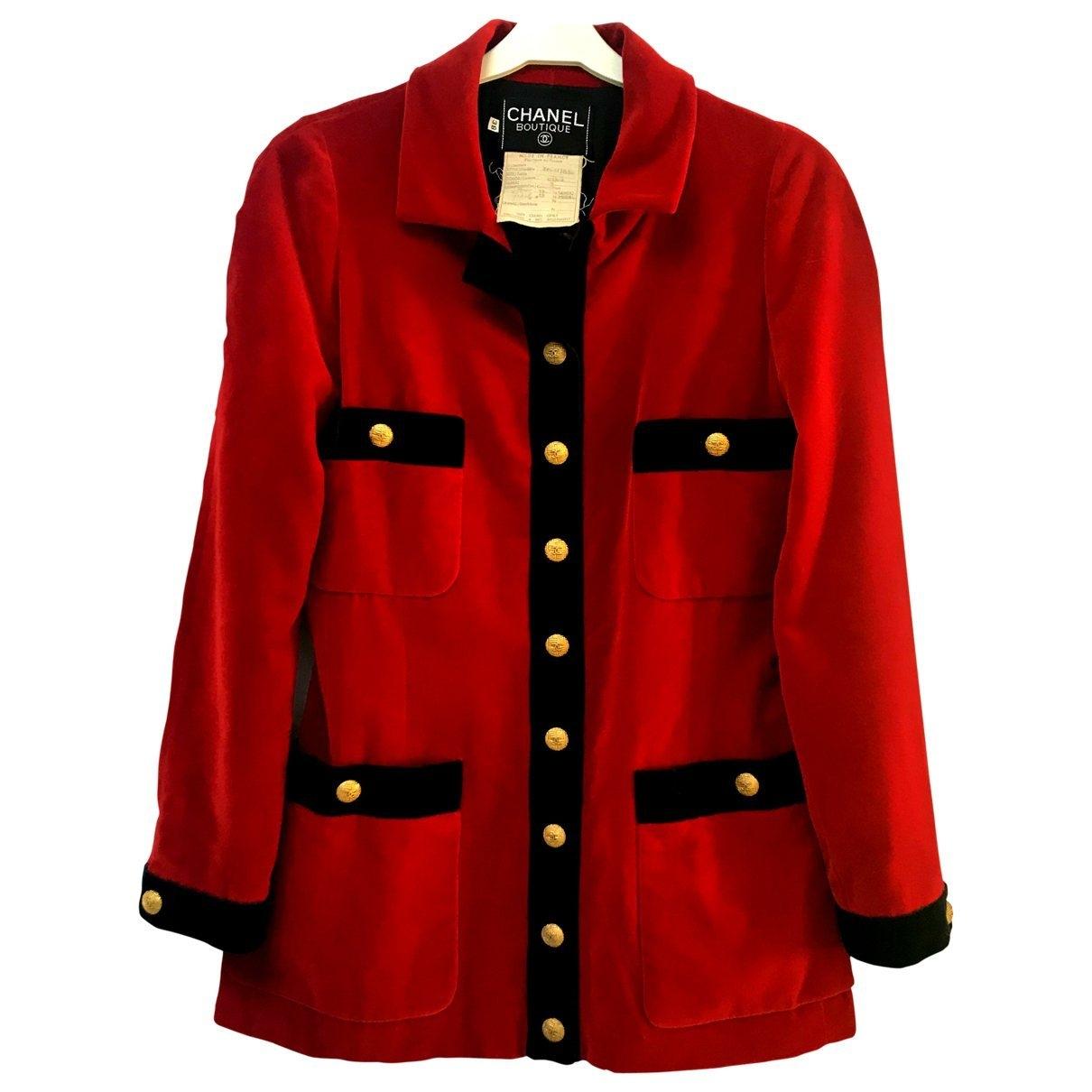 Chanel \N Red Velvet jacket for Women 38 FR