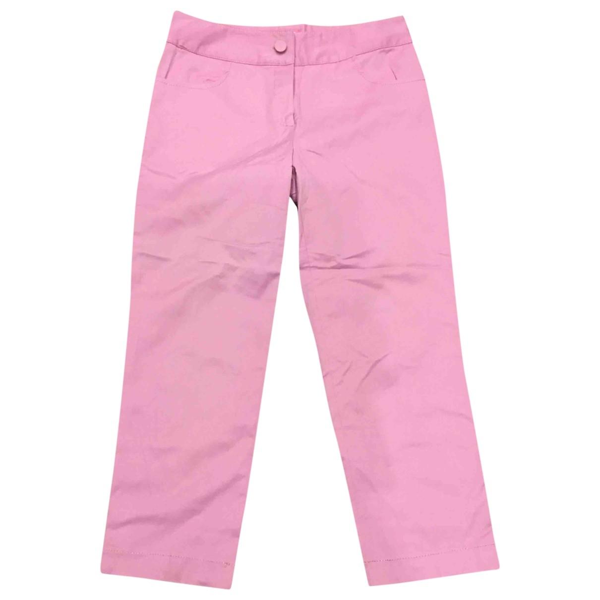 Blumarine \N Pink Cotton Trousers for Women 38 IT