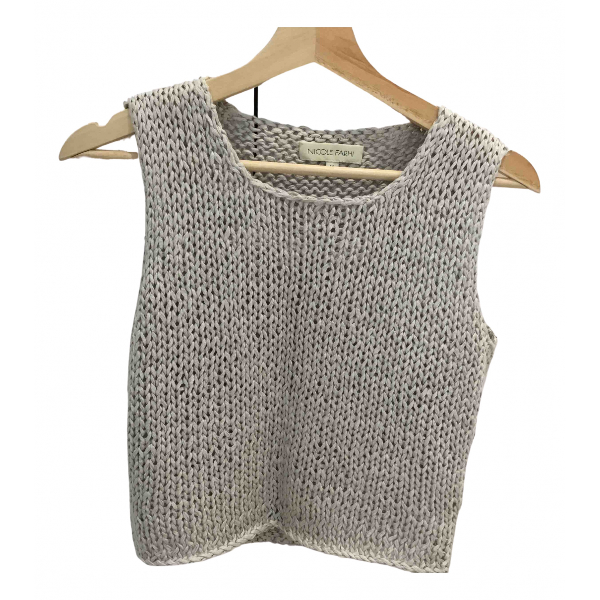 Nicole Farhi N Grey Cotton Knitwear for Women L International