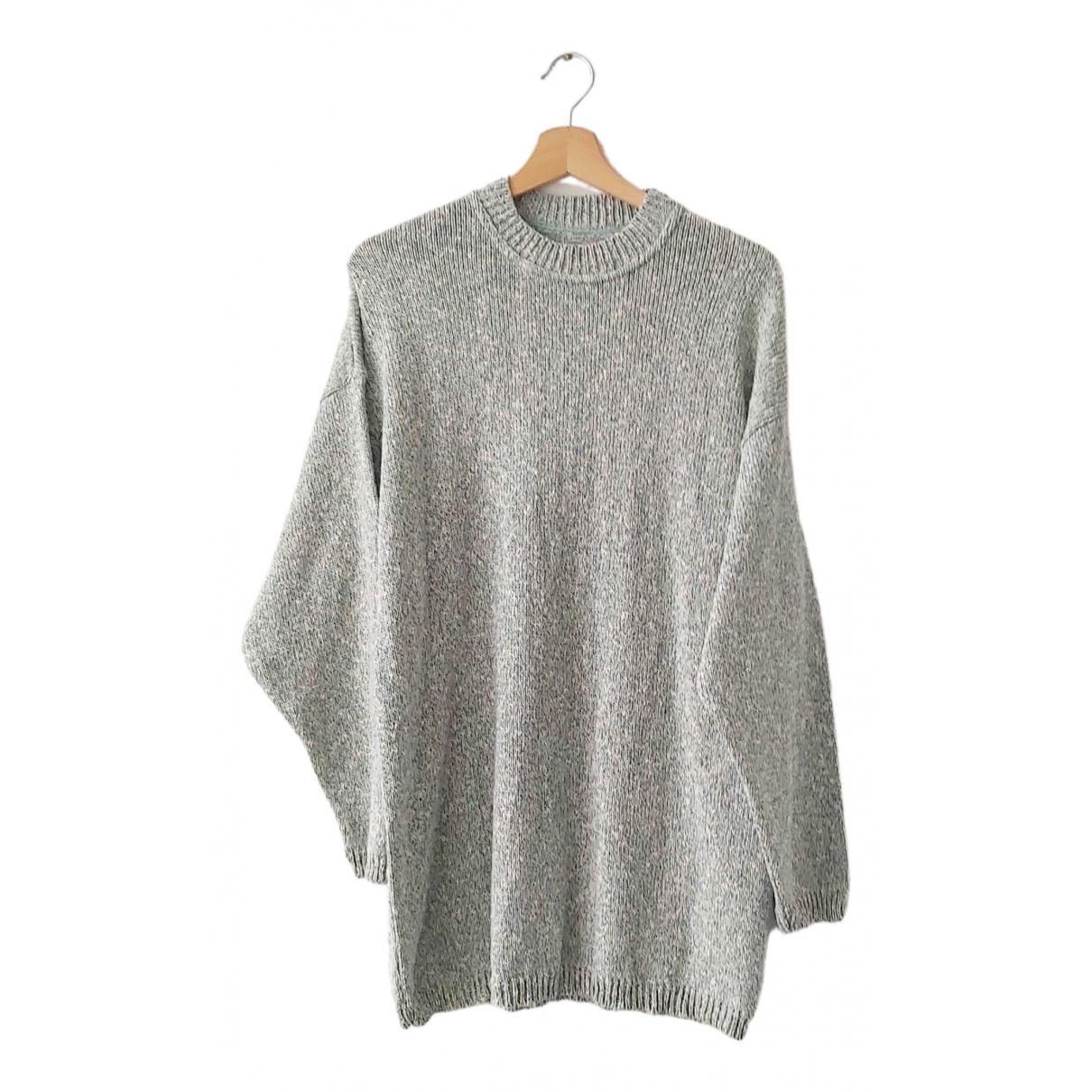 Non Signe / Unsigned Oversize Pullover.Westen.Sweatshirts  in  Gruen Baumwolle