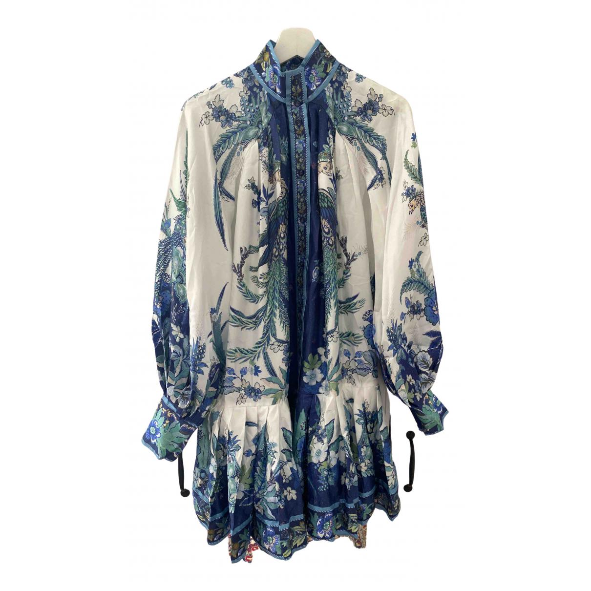 Zimmermann - Robe   pour femme en soie - marine
