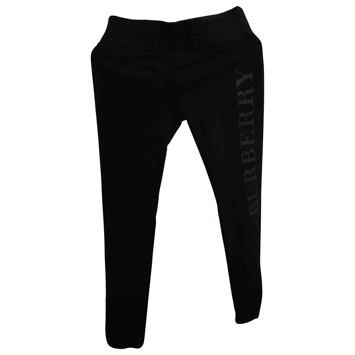 Burberry \N Black Cotton Trousers for Women S International