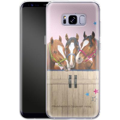 Samsung Galaxy S8 Plus Silikon Handyhuelle - Pferdefreunde 3 von Pferdefreunde