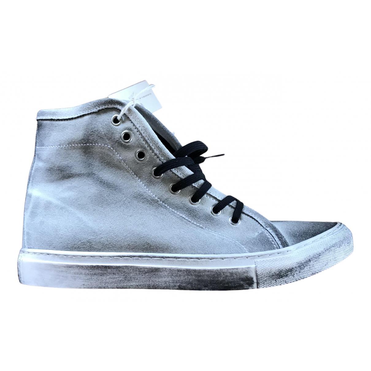 Daniele Alessandrini \N Sneakers in  Weiss Leder
