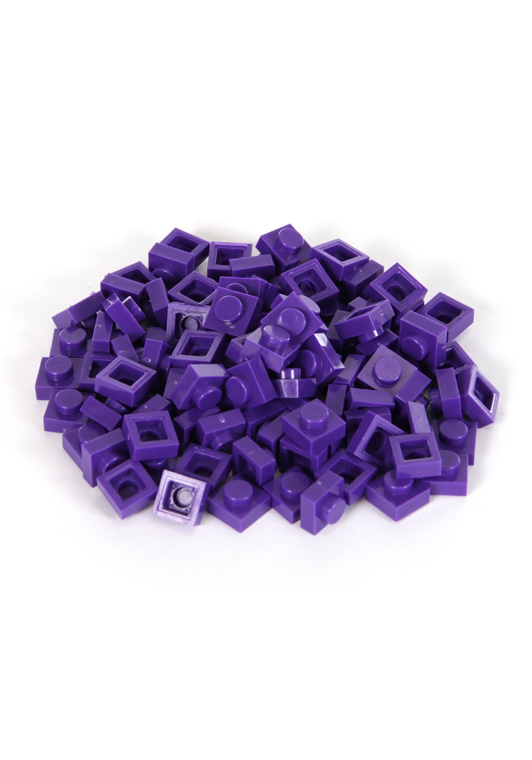 Purple Bricky Blocks 100 Pieces 1x1