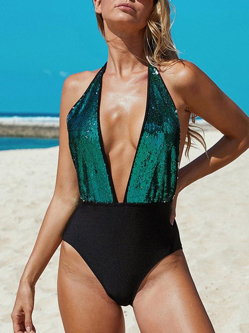 Ericdress One Piece Women's Color Block Swimwear