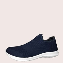 Maenner Minimalistische Slip On Sneakers