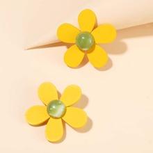 1pair Flower Shaped Earrings