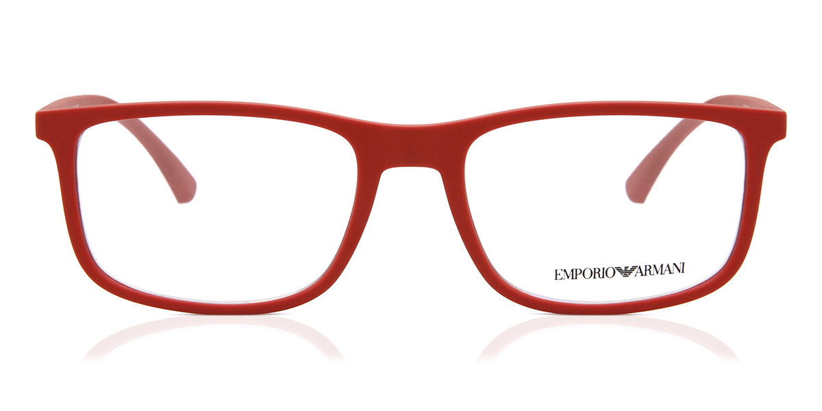 Emporio Armani EA3135 5690 Men's Glasses Red Size 53 - Free Lenses - HSA/FSA Insurance - Blue Light Block Available