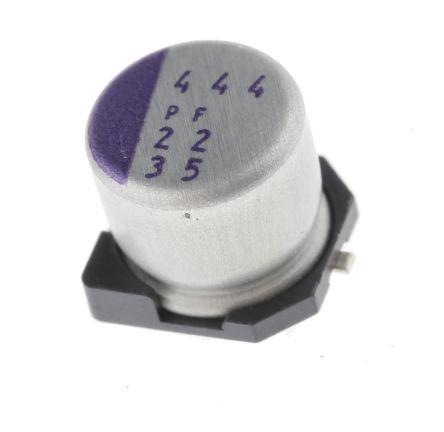Panasonic 22μF Polymer Capacitor 35V dc, Surface Mount - 35SVPF22M (5)