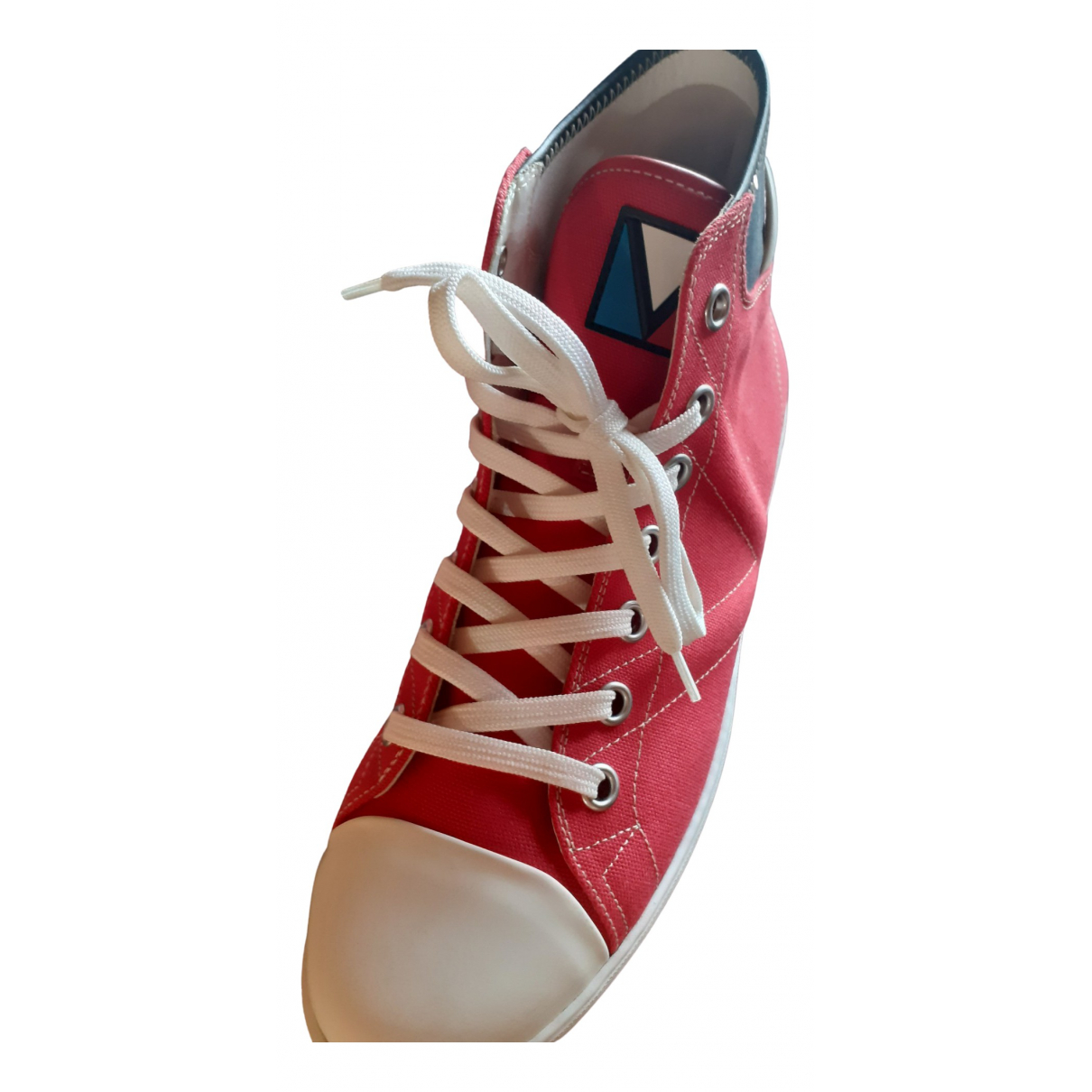 Louis Vuitton \N Red Leather Trainers for Men 40.5 EU