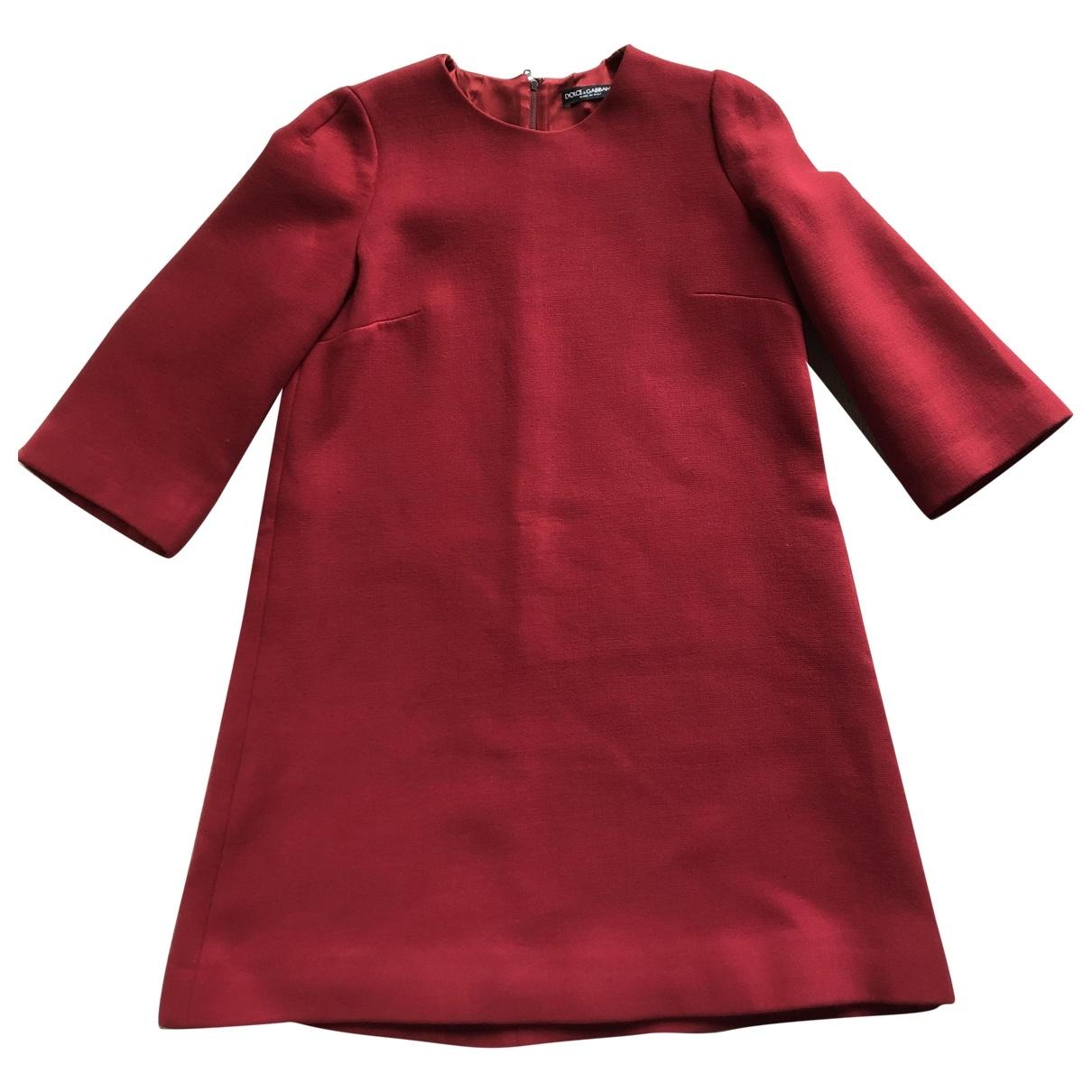 Dolce & Gabbana \N Burgundy Wool dress for Women 44 IT