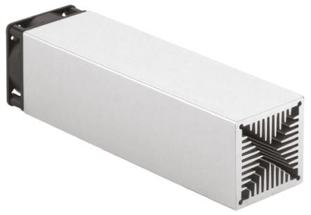 Fischer Elektronik Heatsink, Universal Rectangular Alu with fan, 1.02K/W, 50 x 50 x 50mm, PCB Mount, Natural