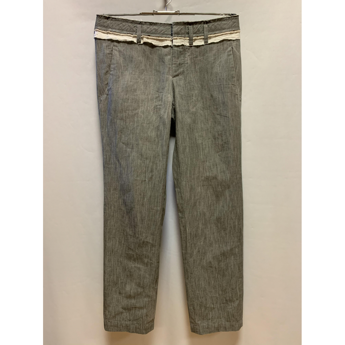 Y-3 \N Grey Cotton Trousers for Men S International