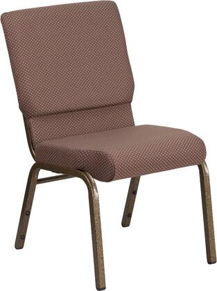 Hercules Collection FD-CH02185-GV-BNDOT-GG Multipurpose Church Chair with Contemporary Style  Floor Protector Glides  Gold Vein Steel Frame and