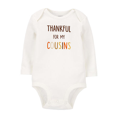 Carter's Thanksgiving Baby Unisex Bodysuit, 12 Months , White