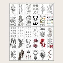 30 Blaetter Tattoo Aufkleber mit vermischtem Muster