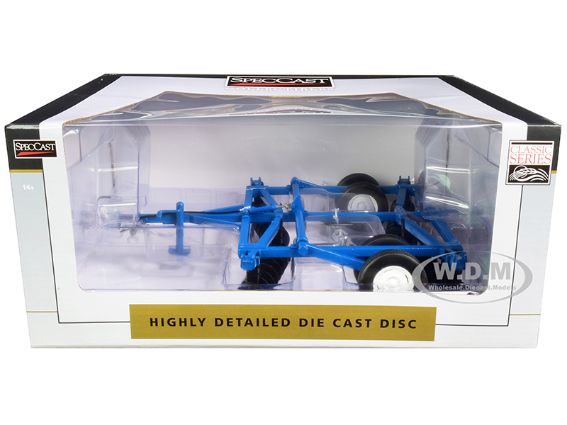 10 Foot Disc Harrow Blue Classic Series 1/16 Diecast Model by SpecCast