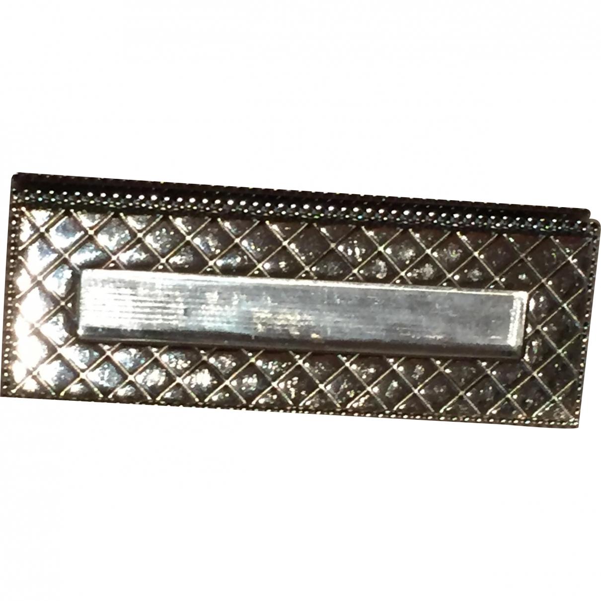 Chanel - Broche Matelasse pour femme en acier - anthracite