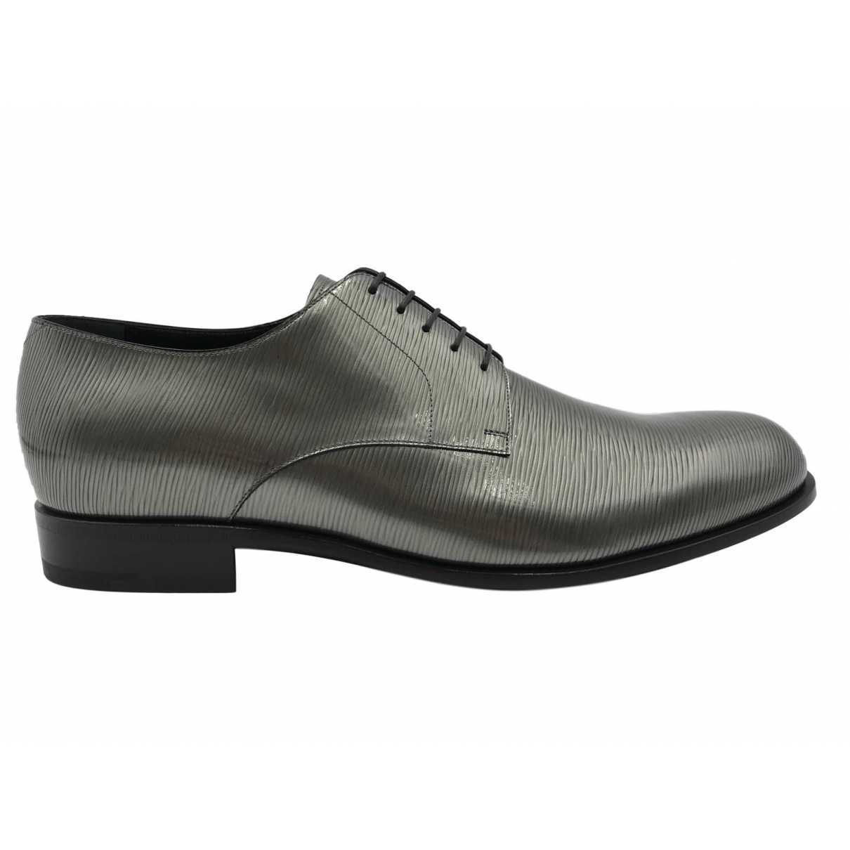 Louis Vuitton \N Anthracite Leather Lace ups for Men 10 UK