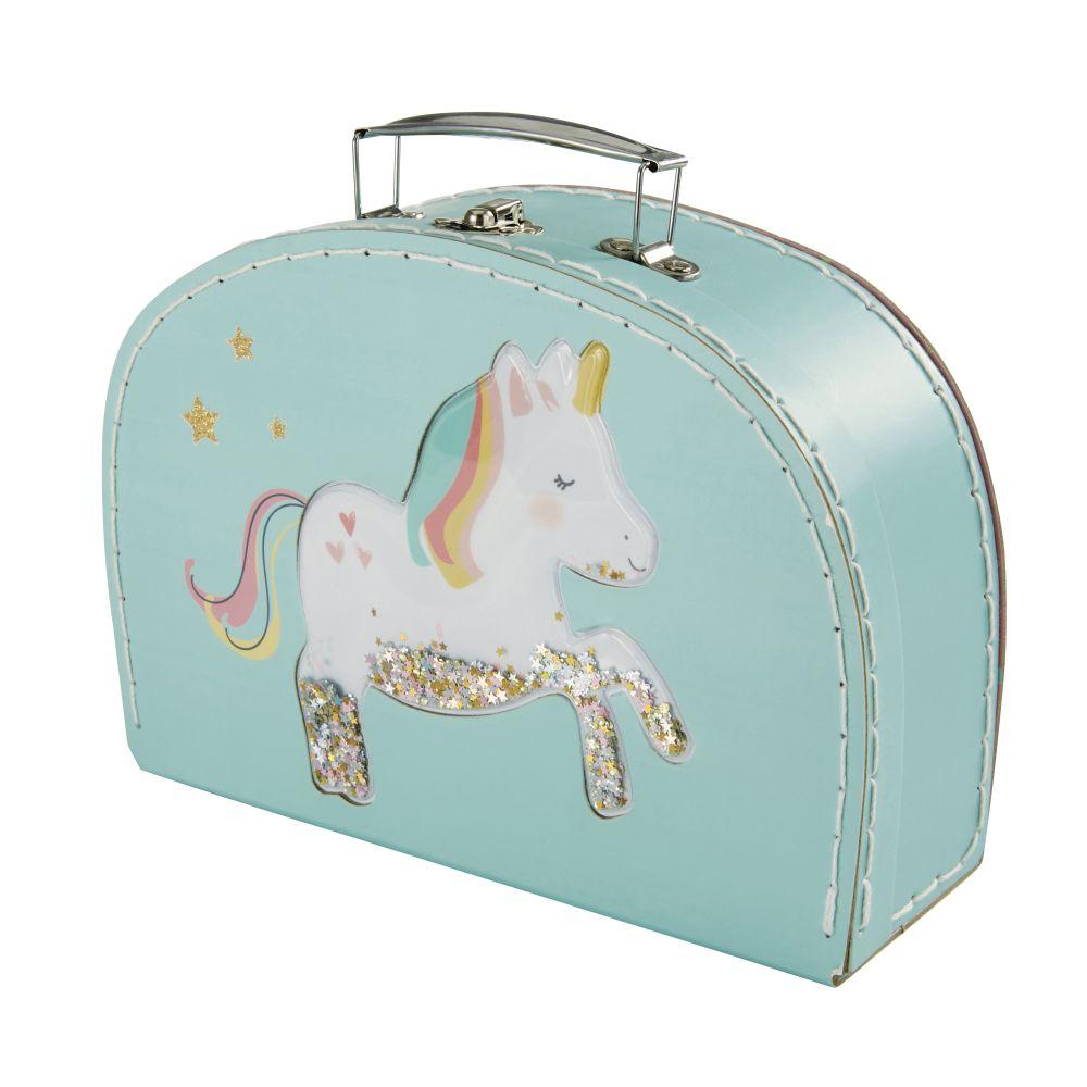 Kofferchen aus Papier und Pappe, mehrfarbig