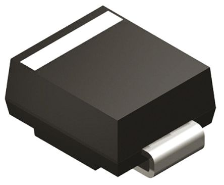 DiodesZetex Diodes Inc 100V 1.5A, Silicon Junction Diode, 2-Pin DO-214AA S2B-13-F (100)
