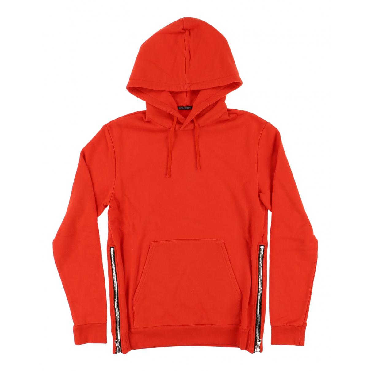 Balmain \N Red Cotton Knitwear & Sweatshirts for Men S International