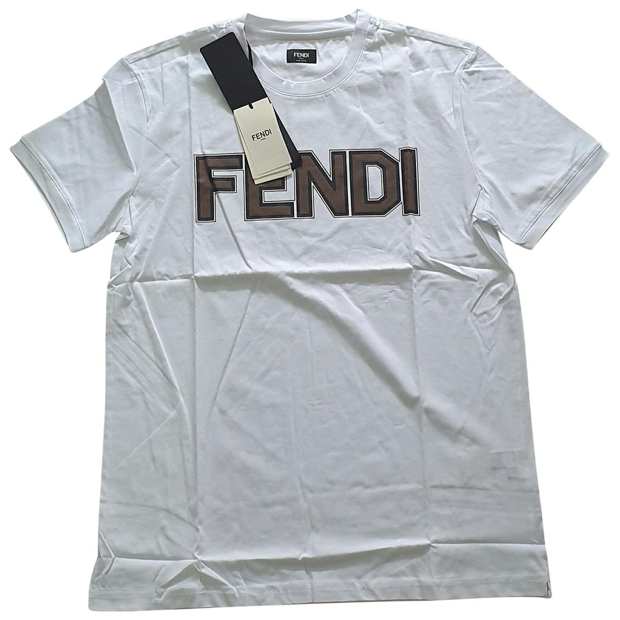 Fendi \N T-Shirts in  Weiss Baumwolle