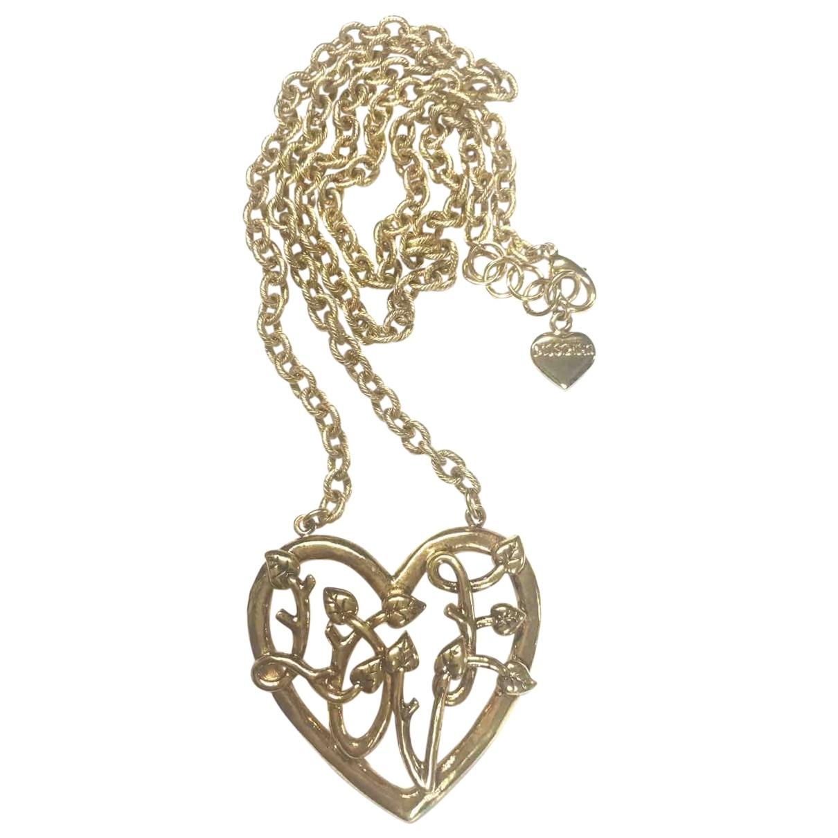 Moschino - Collier   pour femme en plaque or - dore