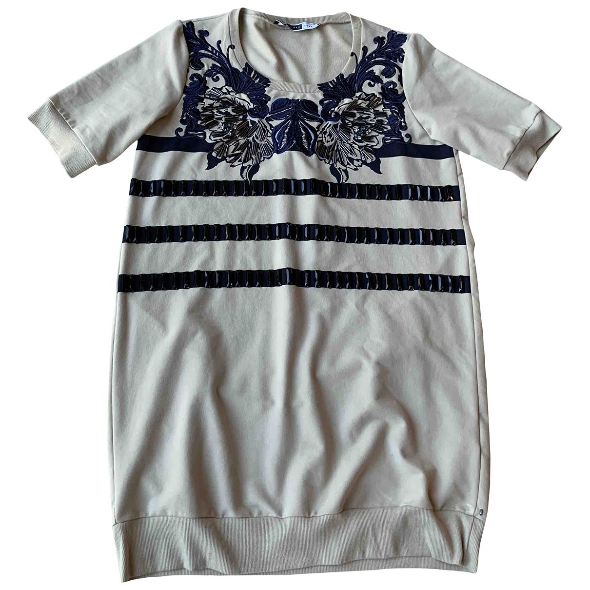 Sport Max \N Kleid in  Beige Baumwolle - Elasthan