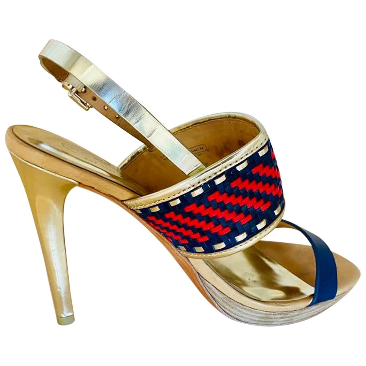Coach - Sandales   pour femme en cuir - dore
