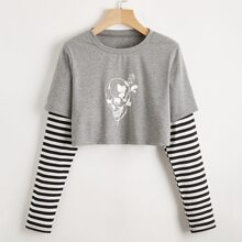 Skeleton Graphic 2 In 1 Tee