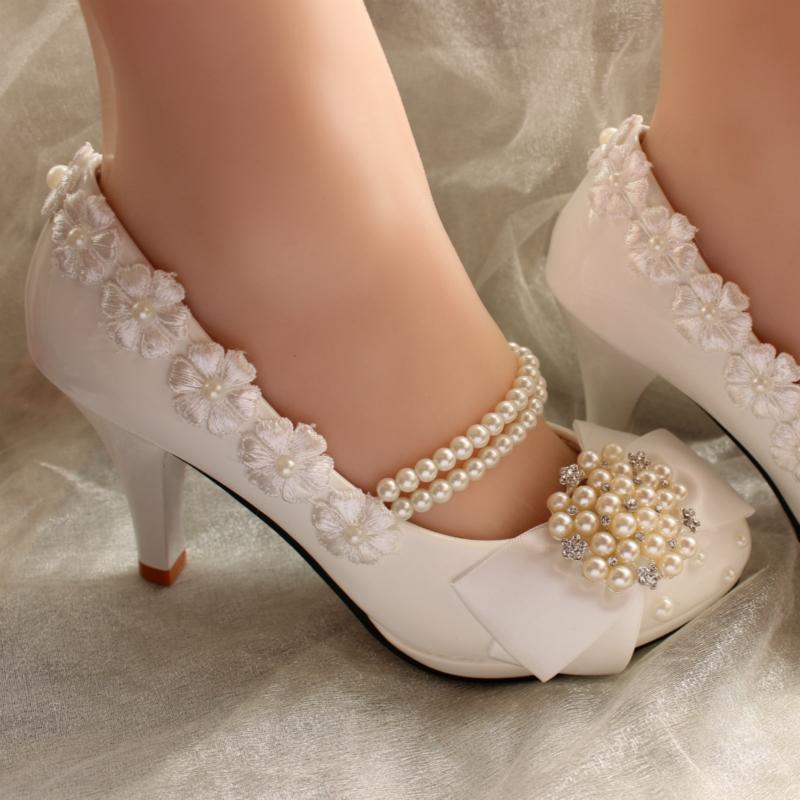 Ericdress Bow Round Toe Wedding Shoes