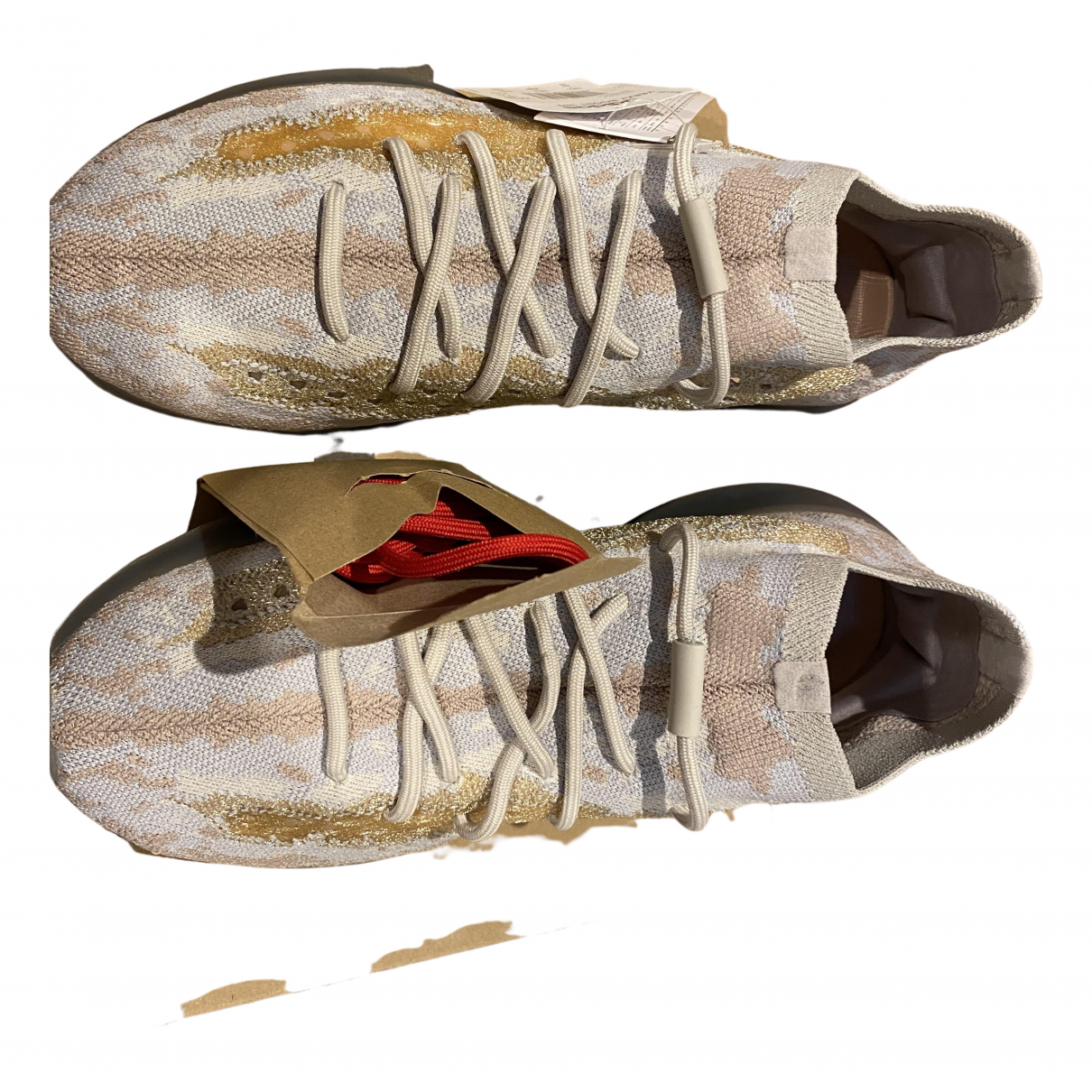 Yeezy X Adidas - Baskets Boost 380 pour homme en toile - beige