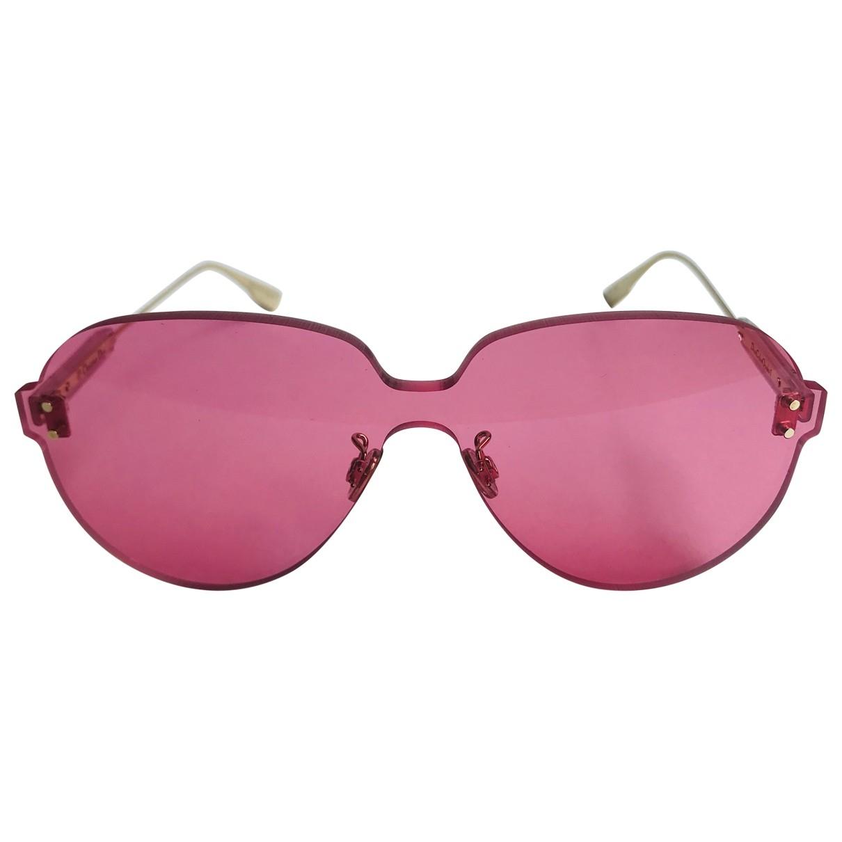 Dior \N Pink Metal Sunglasses for Women \N